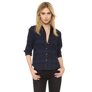 Kate Moss Equipment Midnight Plaid Flannel Shirt
